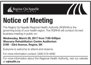 RQHRA Board Meeting Notice March 29