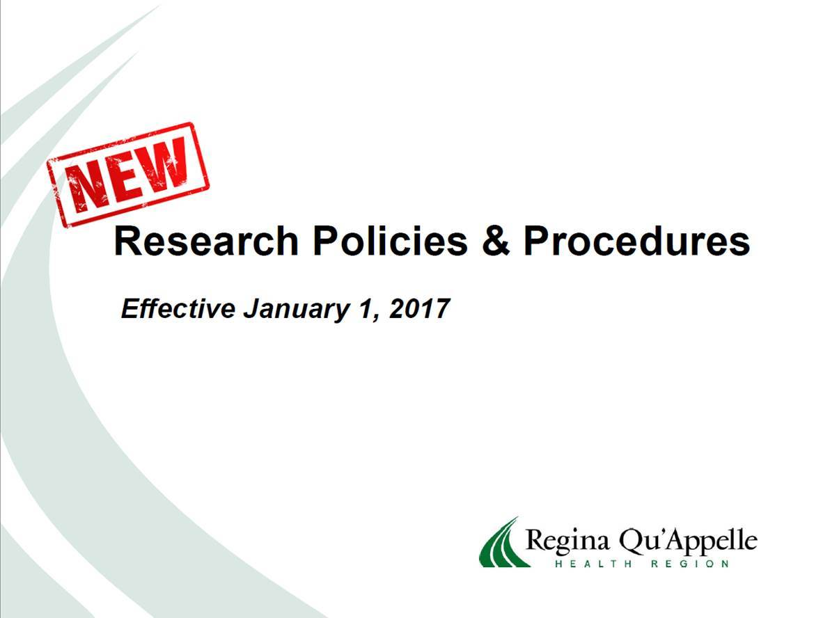 Research Policies and Procedures Presentation